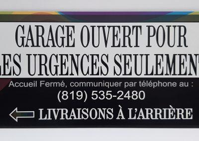 Pancarte Personnalisée pour le Covid 19, imprimé sur Alupannel
