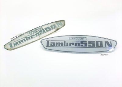 Réplique d'une plaque d'un Lambro 550N
